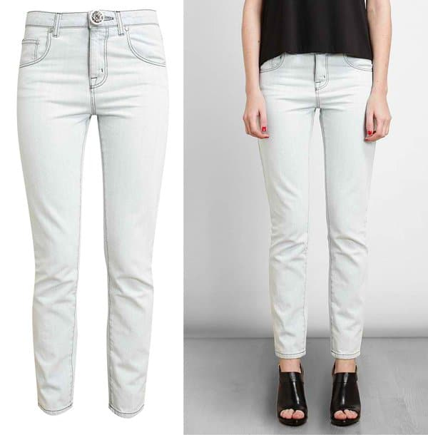 Christopher Kane Washed Denim Jeans