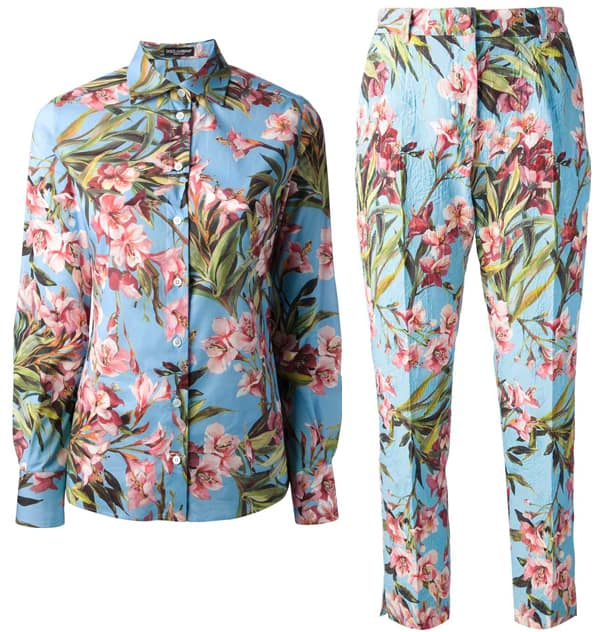 Dolce & Gabbana Floral Print Top and Pants