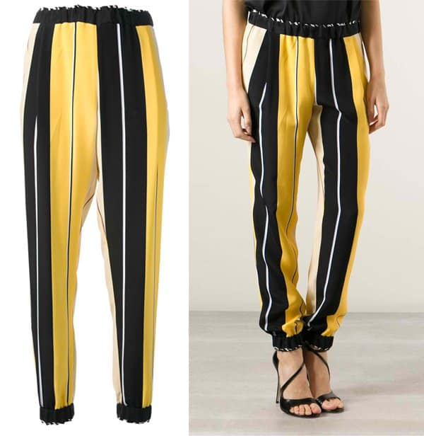 Fendi Striped Tapered Trouser