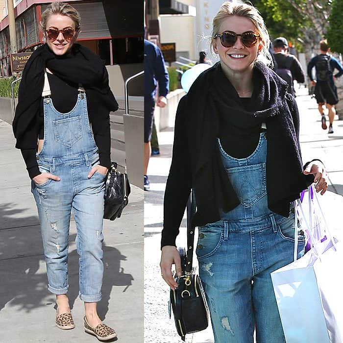 Julianne Hough leaving the Newsroom Cafe and shopping at Intermix and Kitson on Robertson Boulevard
