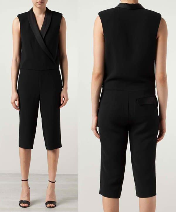 LAgence Crossover Neck Jumpsuit
