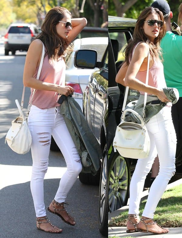 Alessandra Ambrosio In Beverly Hills