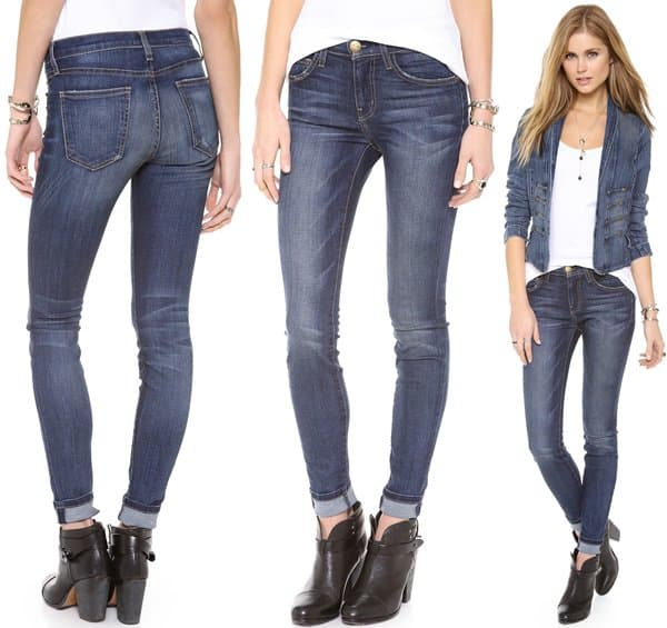 Current Elliott High Waist Skinny Jeans