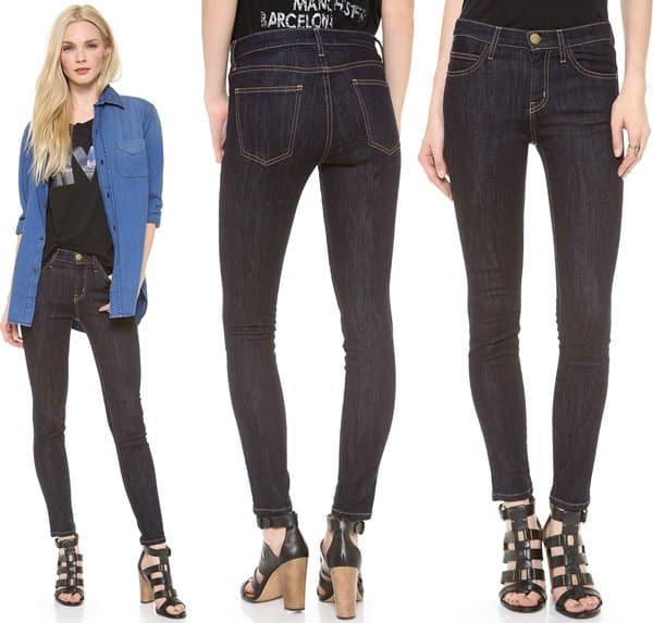 Current Elliott The High Waist Ankle Skinny Jeans