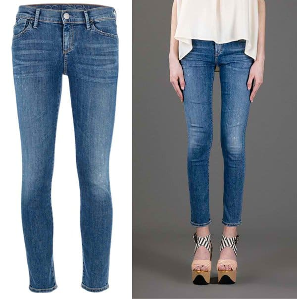 GoldSign Cropped Skinny Jean