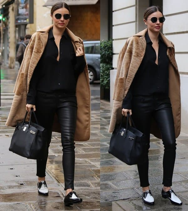 Miranda Kerr had lunch at the Bristol hotel and did some shopping at the Sonia Rykiel store in St Germain des Pres in Paris on February 27, 2014