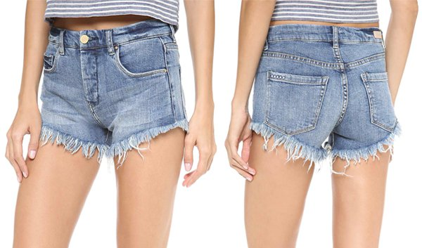 Blank Denim Cutoff Shorts in Jland