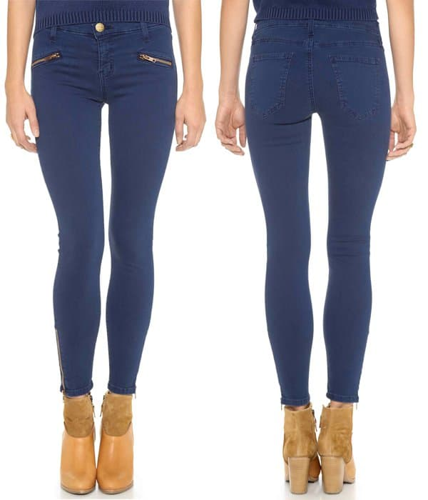 Current Elliott The Soho Zip Stiletto Jeans