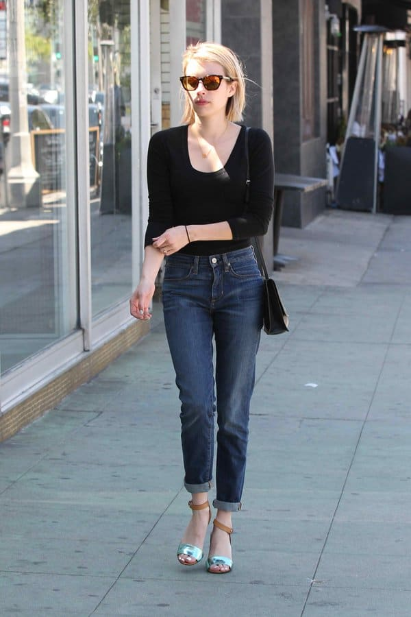 Emma Roberts shows a foolproof way to style jeans
