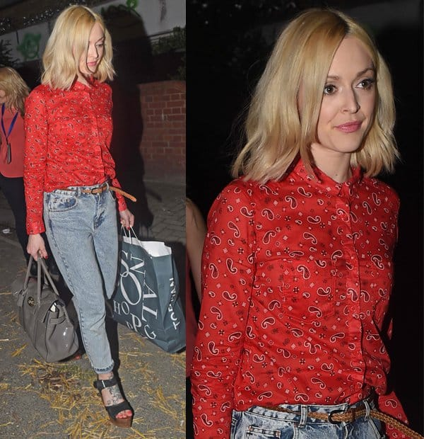Fearne Cotton seen leaving Celeb Juice Recording Held at Riverside Studios in London on April 2, 2014
