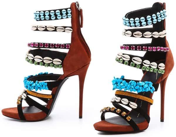 Giuseppe Zanotti  Coline Embellished Sandals