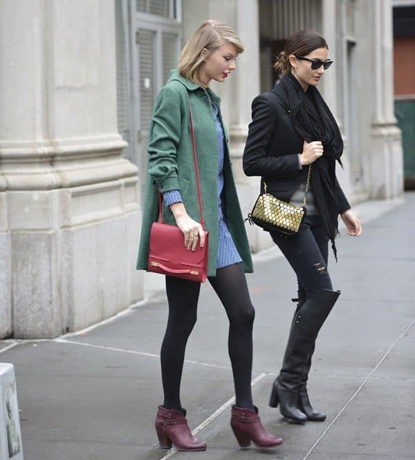 Lily Aldridge and Taylor Swift in Soho