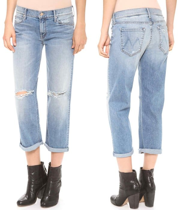 MOTHER The Pretender Crop and Roll Jeans