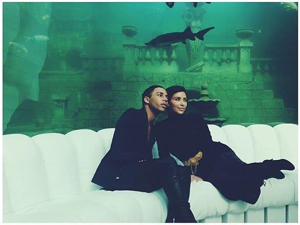 Olivier Rousteing and Kim Kardashian