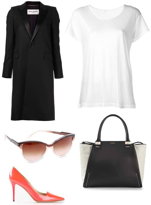 Chic outfit to wear with jeans inspired by Victoria Beckham