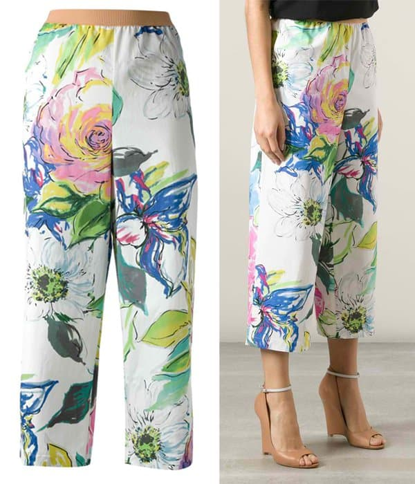 Antonio Marras Floral Print Cropped Trouser