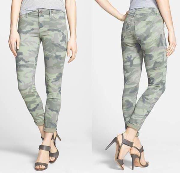 DL1961 Emma Camo Print Denim Leggings