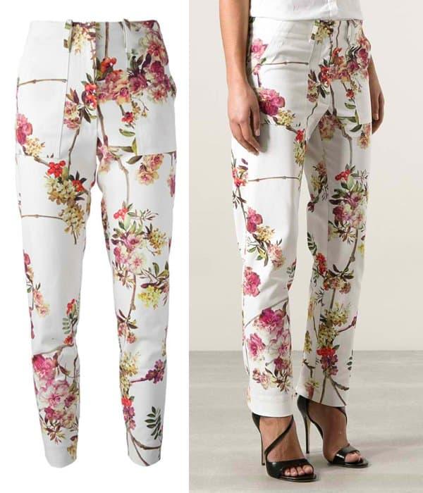 Giambattista Valli Floral Print Trouser