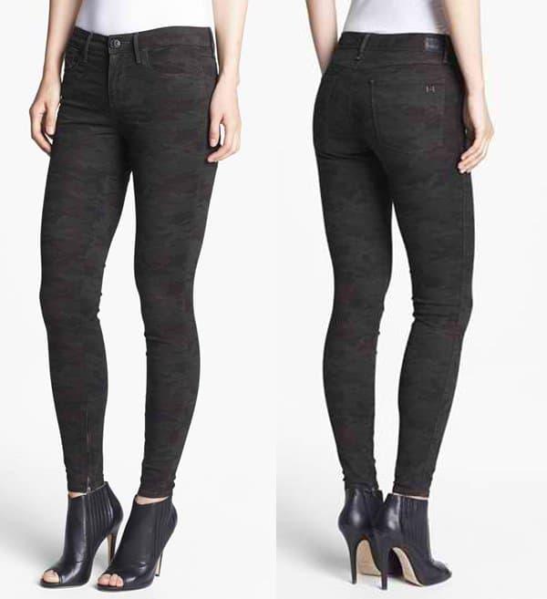 Habitual Almas Camo Print Skinny Stretch Jeans