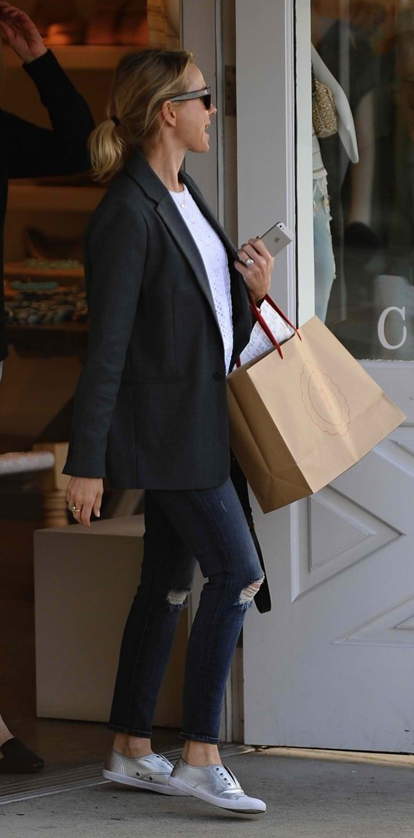 Naomi Watts leaves Brentwood Mart after shopping with a friend in Los Angeles on March 8, 2014