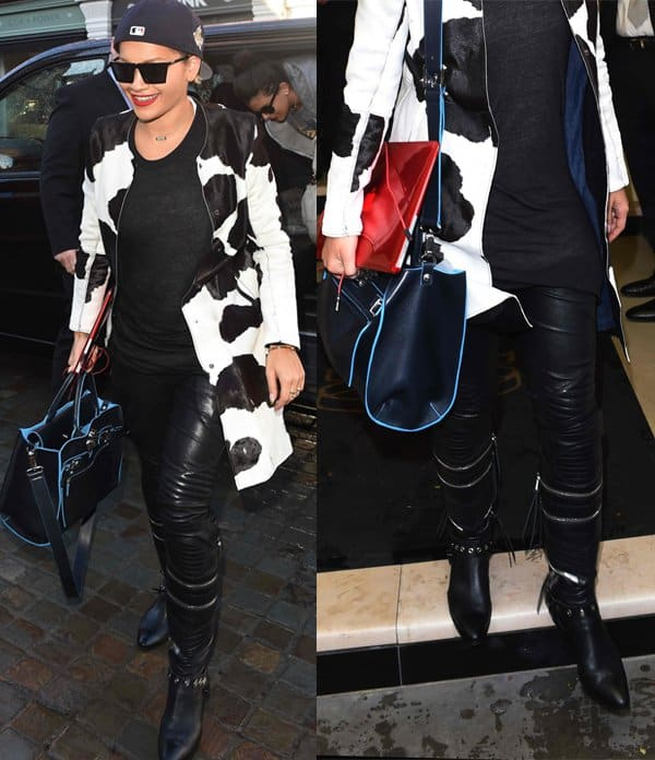 Rita Ora leaving her London hotel to run errands and attend rehearsals ahead of her G-A-Y performance