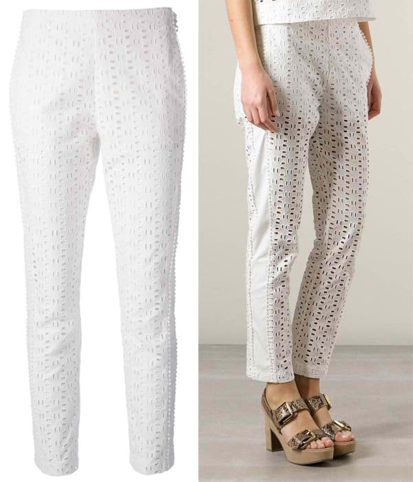 See by Chloe Perforated Crochet Trousers