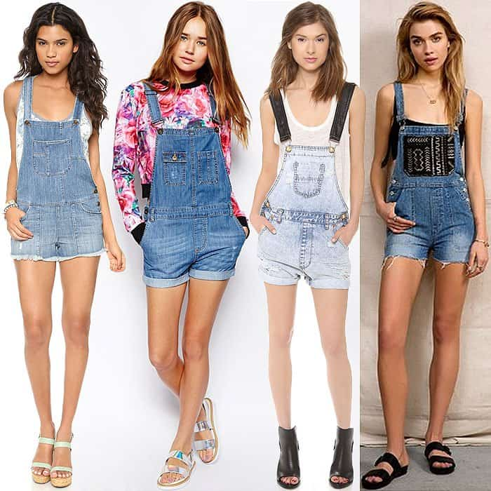 how to wear overall shorts