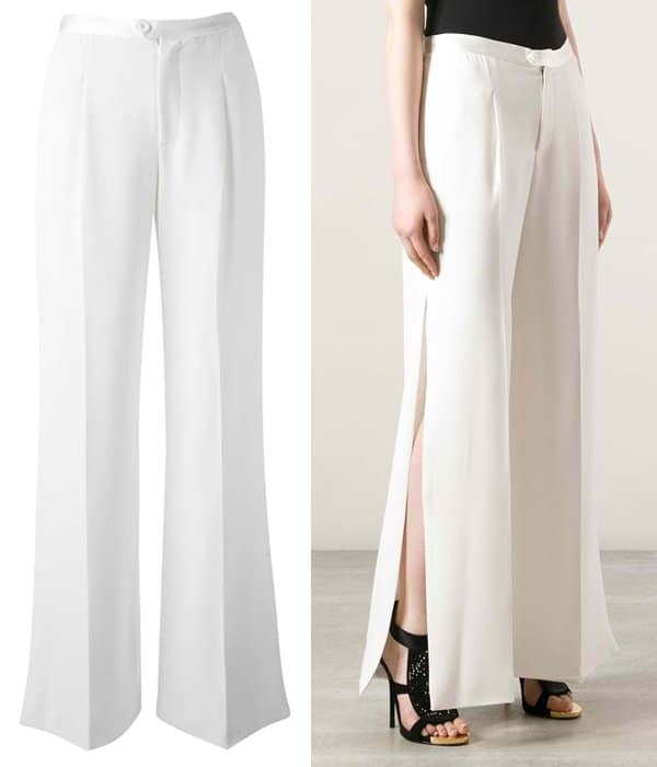 Haute Hippie Flared Crepe Trousers