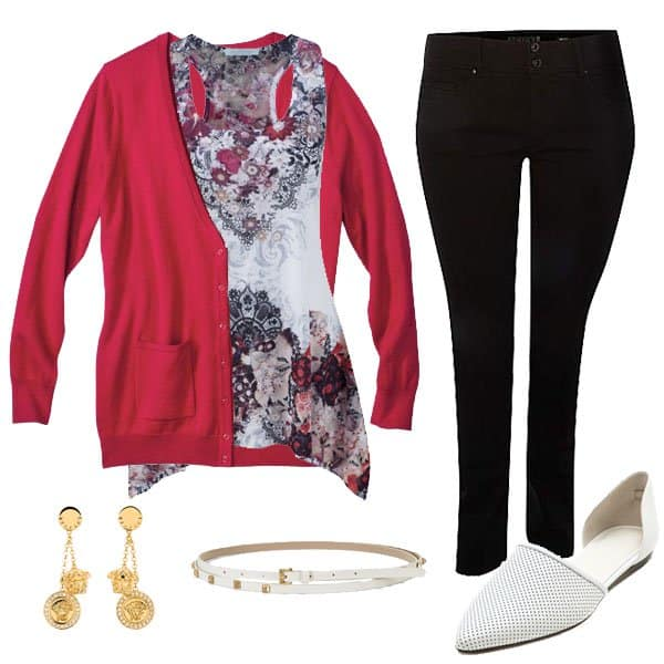 Plus size outfit with skinny jeans