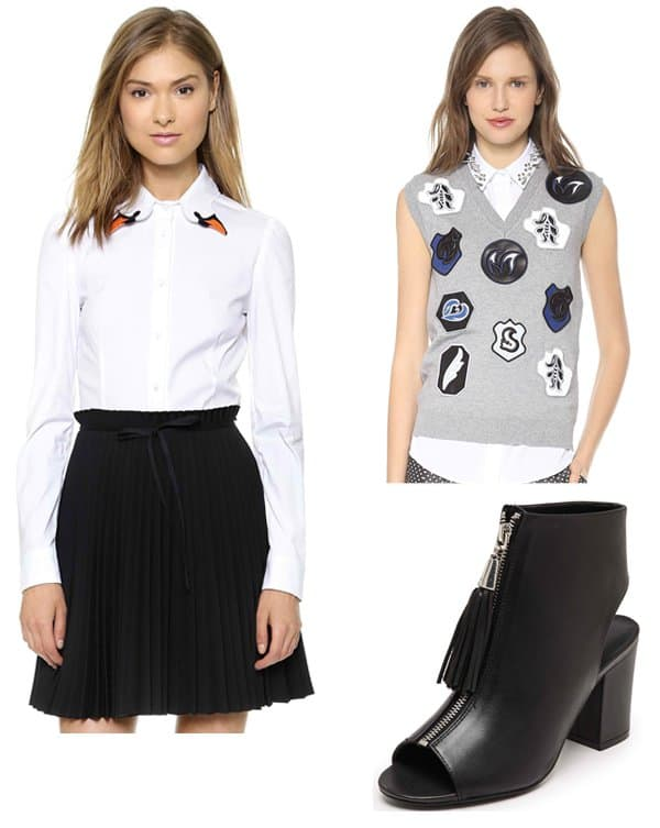 Each x Other Fabio Paleari Tuxedo Shorts with Leather Detail coordinate