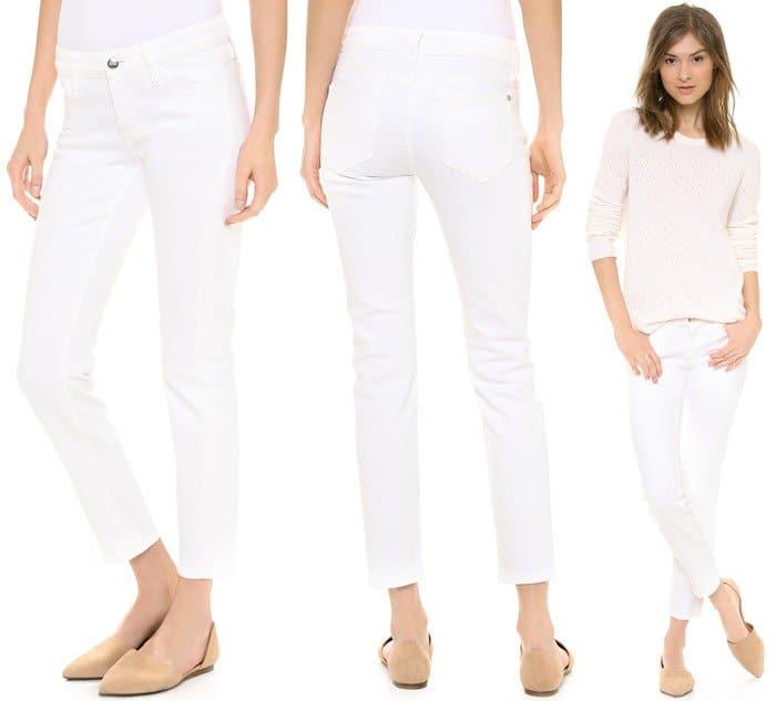 White KORAL Cigarette Jeans