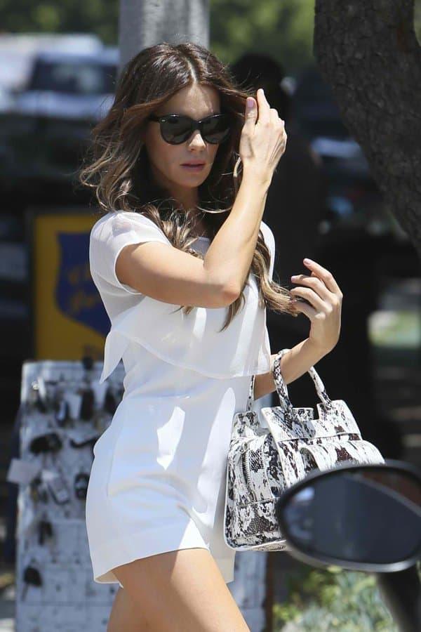 Kate Beckinsale wearing a monochromatic romper