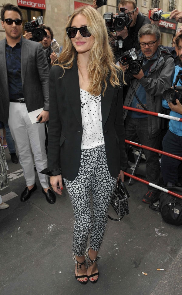 Olivia Palermo attends the Elie Saab show as part of Paris Fashion Week