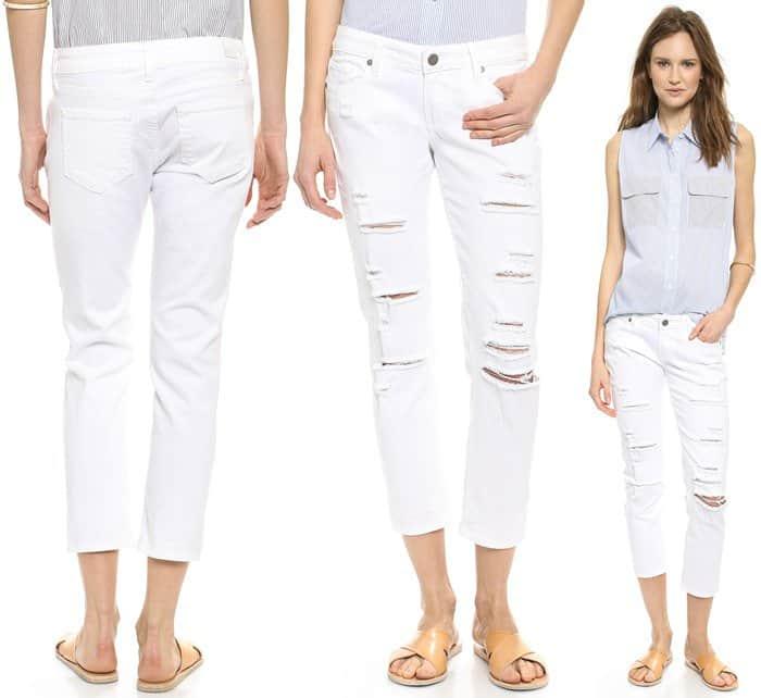 Paige Denim Jimmy Jimmy Cropped Jeans
