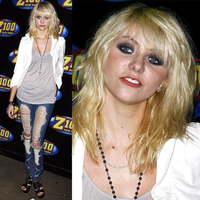 Taylor Momsen wears shredded jeans at Z-100's Zootopia 2009 concert