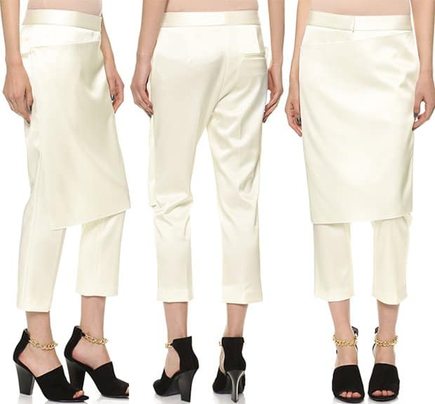 3.1 Phillip Lim Apron Pants in White Satin
