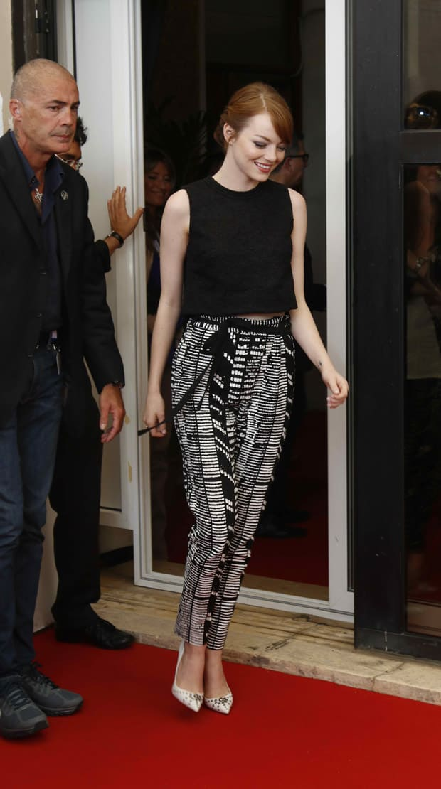 Emma Stone attends the 'Birdman' photocall during the 71st Venice Film Festival
