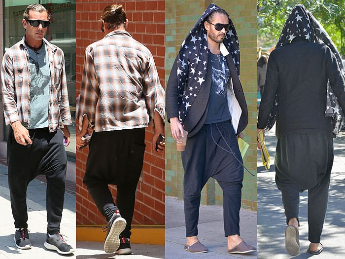 Gavin Rossdale and Russell Brand drop crotch pants