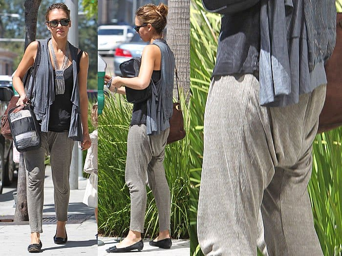 Jessica Alba saggy butt pants
