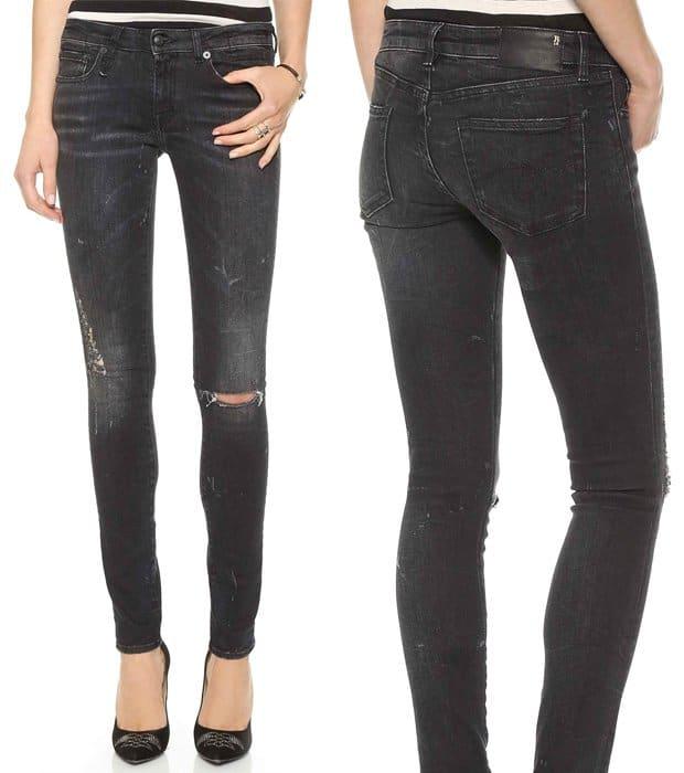 R13 Destroyed Skinny Jeans