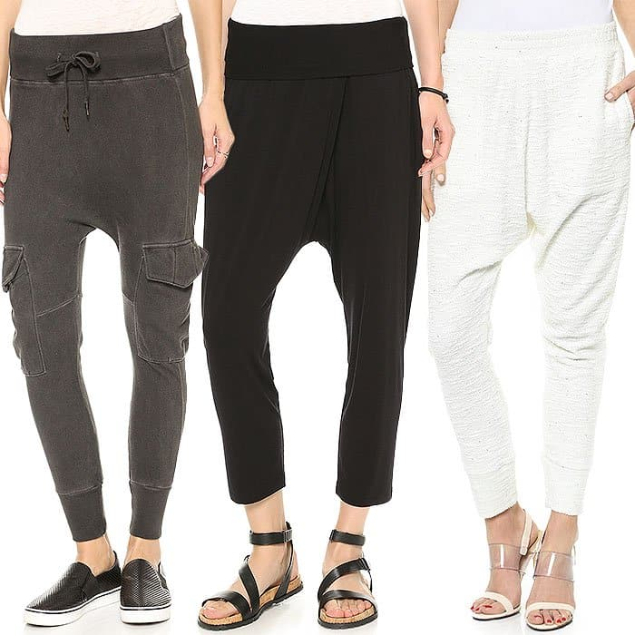 Relaxed drop crotch pants