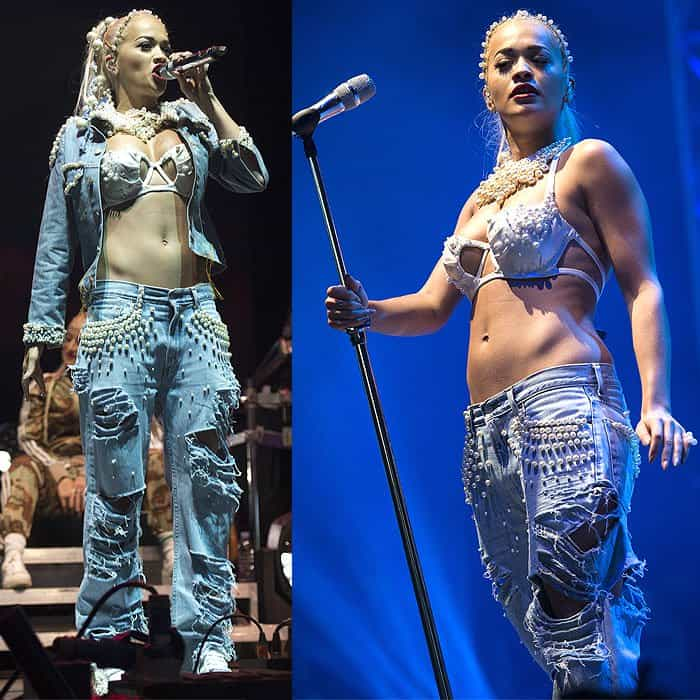 Rita Ora performing on day two of the 2014 V Festival in Chelmsford, England, on August 17, 2014