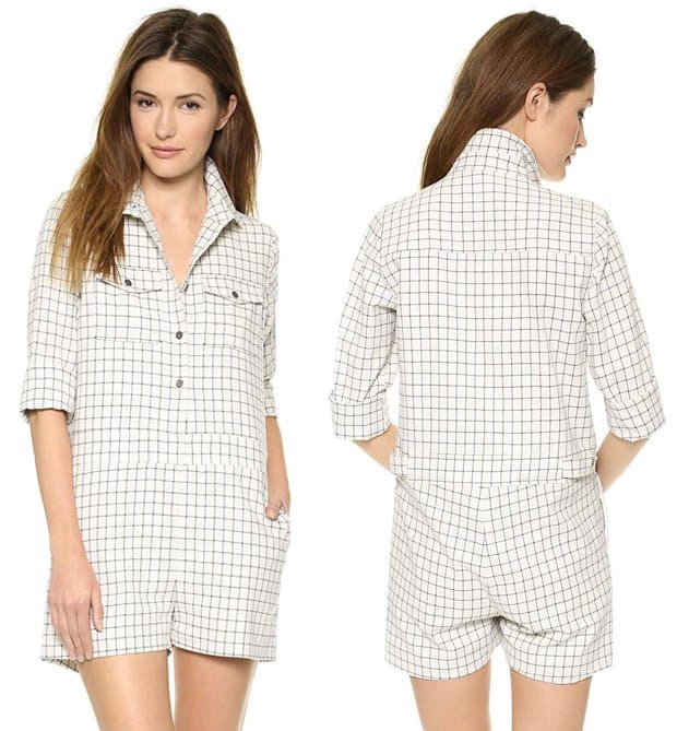 Sea Flannel Shirt Romper