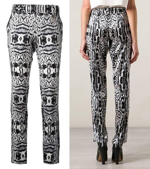Thomas Wylde Leopard Print Trousers