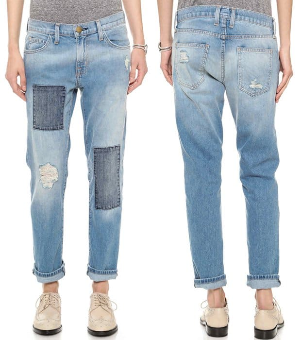 Current Elliott The Patchwork Fling Jeans