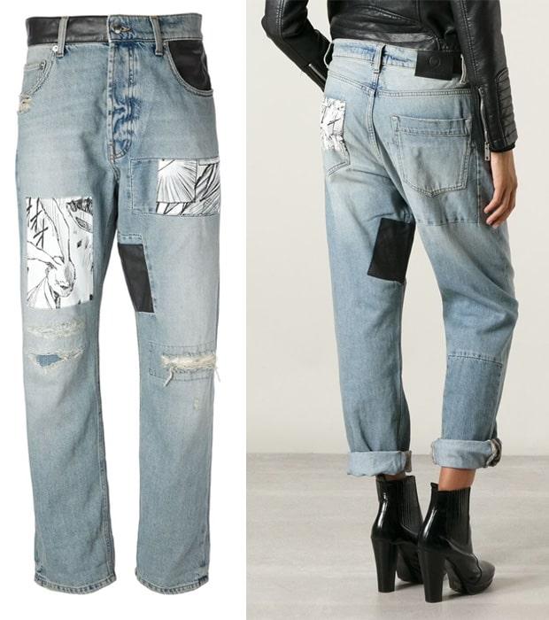 McQ By Alexander McQueen Printed Patch Boyfriend Jeans
