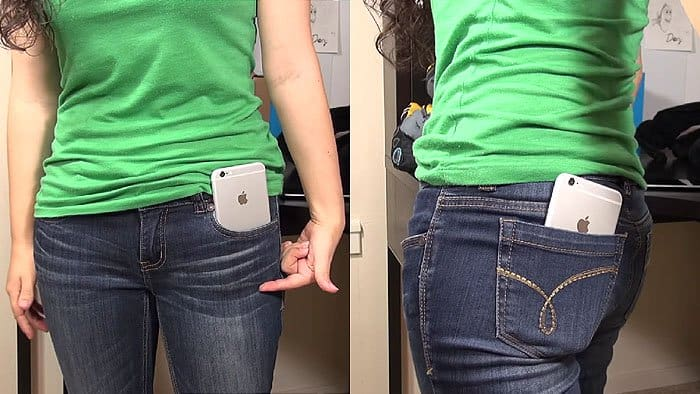 iPhone 6 in women's jeans pocket 1