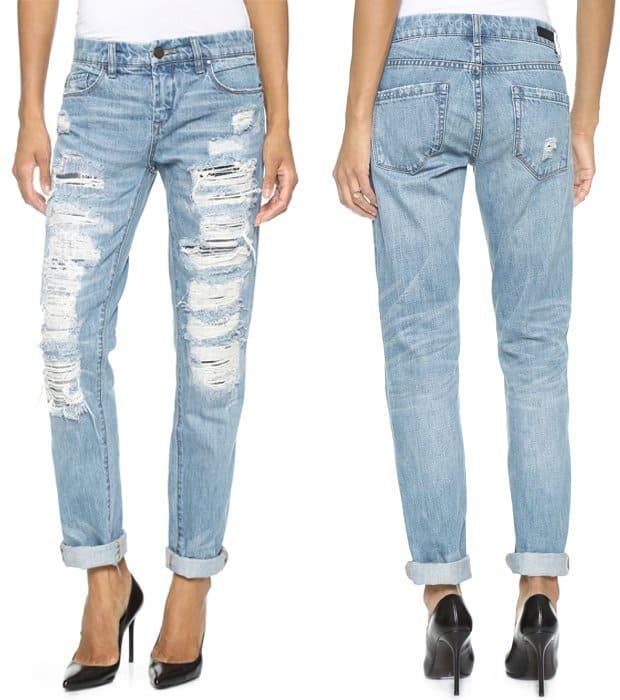 Blank Denim Distressed Boyriend Jeans