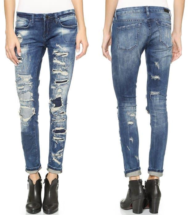 Blank Denim Skinny Distressed Jeans