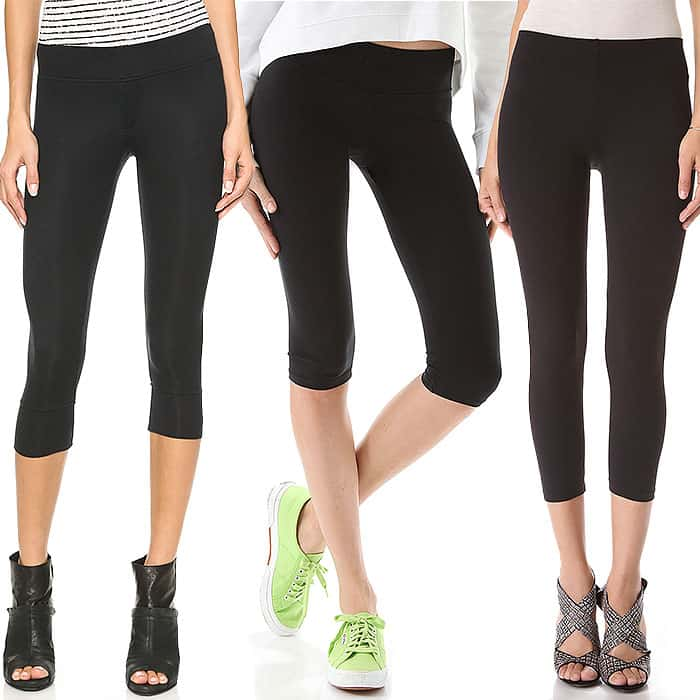 ATM Anthony Thomas Melillo Cropped Micromodal Yoga Pants / SOLOW Cropped Spinning Pants / David Lerner Cropped Leggings